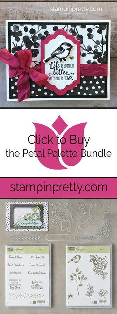 Click to Buy the Petal Palette Clear-Mount Bundle by Stampin' Up! in my Online Store.  Shop with Mary Fish, Stampin' Pretty #maryfish #stampinpretty