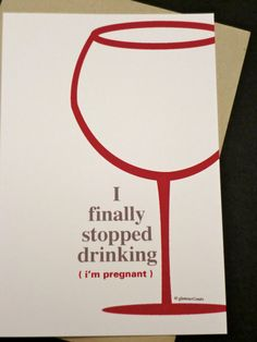 Funny Pregnancy Announcements Set of 12 I by glamourGreets - haha I love it!