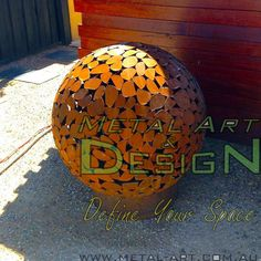 pebbles sphere | Steel, Corten Screens, Furniture, Fire Pits ...