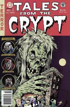 Tales from the Crypt! Loved watching this show as a kid! Book Cover Art, Comic Book Covers, Comic Books Art, Comic Art, Book Art, Creepy Comics, Horror Comics, Horror Art, Monsters
