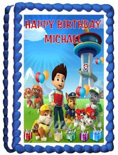 Paw Patrol Edible Frosting Sheet Cake Topper  14 Sheet Vertical * You can find out more details at the link of the image.(This is an Amazon affiliate link and I receive a commission for the sales)
