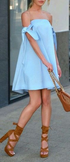 Love the tie up at shoulder on this dress