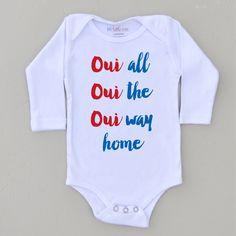Oui Oui Oui Onesie at Hi Little One