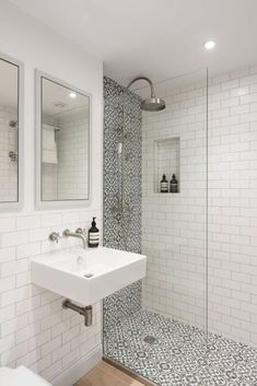 Amazing Small Bathroom Makeover Ideas 49 most popular master bathroom remodel tile ideas 12 bathroom Downstairs Bathroom, Bathroom Renos, Bathroom Flooring, Remodel Bathroom, Small Shower Remodel, Small Basement Bathroom, Small Bathroom Renovations, Tub Remodel, Basement Walls