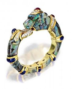opal wedding band panther