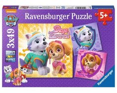 Puzzle Ravensburger Patrulla Canina, Cachorros de 3 x 49 Piezas