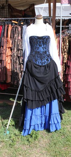 Black Saloon Girl Skirt by SilverLeafCostumes on Etsy, $95.00