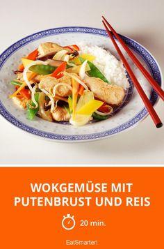 Wokgemüse mit Putenbrust und Reis - smarter - Zeit: 20 Min. | eatsmarter.de