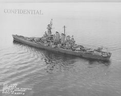 16 in USS Washington off Port Angeles, Washington, April 1944. She was the second of the two ship North Carolina class; the US Navy's first battleships of the post-Dreadnought era, produced to 35000 ton Washington Treaty limits. Despite an eventful war including the sinking of Japanese battleship Kirishima in September 1942 she suffered no casualties at all throughout the conflict.