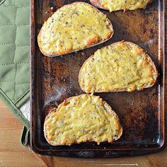 Stews, scones and more: I've got a full round-up of Irish recipes of the blog for you today. Includes these Baked Irish Cheese Toasties. Yum!! (Recipe and image contributed by @jannisescott1) #stpatricksday #recipe