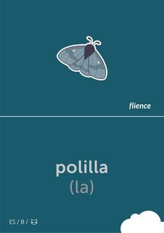 Polilla #flience #animal #insects #english #education #flashcard #language Spanish Flashcards, Moth, Insects, Language, English, Animal, Education, Design, Animaux