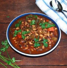 Slow Cooker Black-Eyed Peas Stew - Holy Cow! Fat-Free Vegan Recipes
