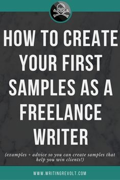 Need to create your first freelance writing portfolio? This comprehensive guide will teach you EXACTLY how to create samples that help you win clients. Start learning now! Make Money Writing, Writing Advice, Writing Resources, Blog Writing, Creative Writing, Writing A Book, Writing Prompts, Writing Ideas, Writing Humor