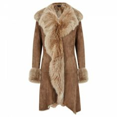 Dom Goor Shearling lined suede coat - stunning!