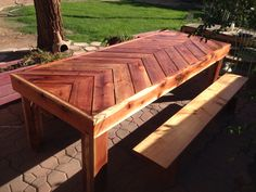 Redwood table by The Genier's After photo