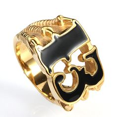 Biker Men's Stainless Steel Dragon Claw Lucky No. Rings Of Saturn, Clover Ring, Gold Rings, Gemstone Rings, Men's Jewelry Rings, Dragon Claw, Rings N Things, Biker Rings, Rings Cool