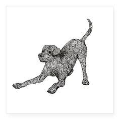 Zentangle Labrador Dog - Pleased to see yo Sticker on CafePress.com By emilyhunterhiggins.co.uk