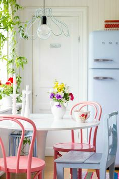 Pastel kitchen ideas | How to get the vintage look