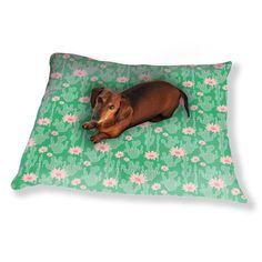 Uneekee Cactus In Bloom Dog Pillow Luxury Dog / Cat Pet Bed