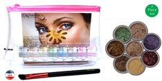 ITAY Mineral Cosmetics 8 Stack Eye Shimmers in OroLindaAngle Eye Shadow BrushClear Airplane Travel Cosmetic BagBundle of 3 Items * Click on the image for additional details. (This is an affiliate link) #MakeupEyeshadow