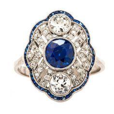 Diamond & Sapphire Edwardian Ring