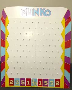 DIY Plinko Board from The Price is Right, DIY plinko board – illustration , You are in the right place about DIY Carnival food Here we offer you the most beautiful pictures Plinko Board, Plinko Game, Games For Elderly, Elderly Activities, Senior Activities, Exercise Activities, Youth Activities, Spring Activities, Diy Carnival Games