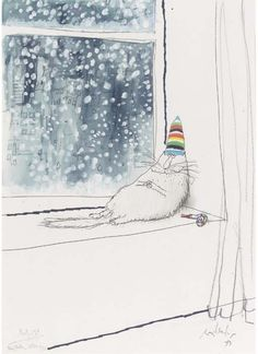 Ronald Searle - he always drew the best cats. Art And Illustration, Cat Illustrations, Michael Sowa, Ronald Searle, Video Chat, Matou, Photo Chat, Art Graphique, Cat Drawing