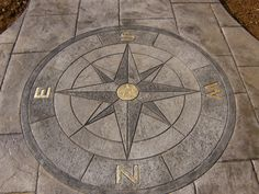 "12"" Tile Mosaic Medallion Mariners Compass Travertine Slate Backsplash Flooring - Google Search"