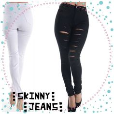 "HOST PICK 11:9DESTROYED SKINNY JEANS - BLACK Gotta have a few in your closet! Destroyed skinny jeans in black. They go anywhere. 97% cotton/3% spandex.                                                                                       ♦️1X: waist 32-37"" hips (seat) 38-48"" inseam 30.5"" rise 11""♦️2X: waist 33-38"" hips (seat) 41-51"" inseam 31"" rise 11""♦️3X: waist 35-40"" hips (seat) 42-52"" inseam 31.5"" rise 12"" PLEASE DO NOT BUY THIS LISTING, I will personalize one for you. tla2 Jeans Skinny"