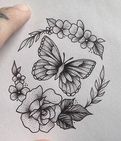 With bee for nana instead Dope Tattoos, Pretty Tattoos, Mini Tattoos, Leg Tattoos, Flower Tattoos, Body Art Tattoos, Tattoo Drawings, Sleeve Tattoos, Tatoos