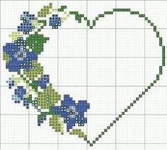 Discover thousands of images about İsim: Görüntüleme: 1576 Büyüklük: KB (Kilobyte) Cross Stitch Needles, Cross Stitch Heart, Cross Stitch Borders, Cross Stitch Flowers, Cross Stitch Designs, Cross Stitching, Embroidery Hearts, Cross Stitch Embroidery, Canvas Template