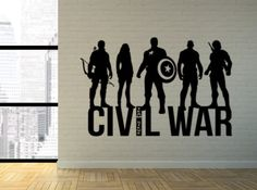 A personal favorite from my Etsy shop https://www.etsy.com/listing/245917960/the-avengers-civil-war-team-steve-wall