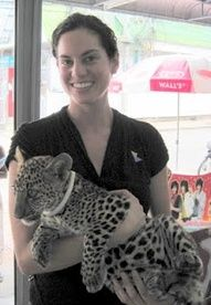 So cute yet terrifying! Click to read about Elephants, a Leopard Cub, and the River Kwai in Thailand.