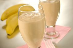 Wake up with a smile! This Banana Breakfast Drink is great for breakfast on-the-go!