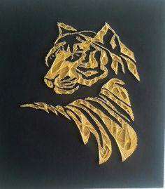 Tiger string art
