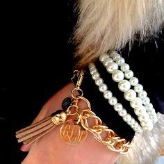 Monogrammed Tassel Bracelet   MARLEYLILLY
