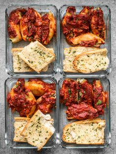 Stuffed Shells Meal Prep Pesto Stuffed Shells and homemade garlic bread make a classic and comforting lunch that holds up well in the refrigerator. Lunch Meal Prep, Meal Prep Bowls, Easy Meal Prep, Healthy Meal Prep, Healthy Snacks, Easy Meals, Healthy Recipes, Meal Prep Dinner Ideas, Fitness Meal Prep