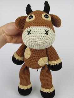 Bull Boris amigurumi crochet pattern by DioneDesign