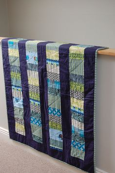 quilt for a boy    beautifully done in blue and green