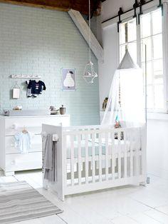 Serene Baby Boy Nursery. #tinylittlepads @tinylittlepads www.tinylittlepads.com