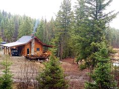Log Cabin + 320 Acres For Sale, Lost Lake, Montana