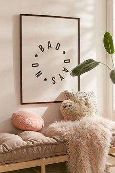 Honeymoon Hotel No Bad Days Art Print | Urban Outfitters Hygge, Home Interior, Interior Design, Honeymoon Hotels, No Bad Days, Teen Girl Bedrooms, My New Room, Room Inspiration, Wall Decals