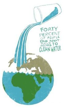 people of the world can't get clean water Share this one in honor of World Water Week Water Facts, Access To Clean Water, Water Poster, Our Environment, Environment Quotes, World Water, We Are The World, Save Water, Water Org