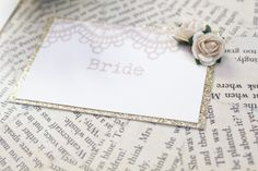 1920's inspired lace place setting. www.paperwedding.co.uk Photographs by Michelle Huggleston Photography.