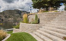 AB® Collection Retaining Wall-The AB® Collection is made for even the most difficult of terrains. It accommodates any design that calls for a larger stone. The blocks within the collectin can be used on their own or combined for beautifully weaved Ashlar patterns for dramatic hardscape treatments or simple projects that enhance the beauty and character of any outdoor space.