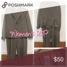 Women's 16 petite pants suit Worn once Other