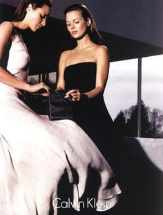 Christy and Kate for Calvin Klein, 1998