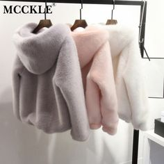 Buy 10 Color Winter New Faux Mink Long Sleeve Women Fur Coat Hooded Zipper Classic Generous Golden Ratio Warm Practical Fur Jacket Mode Outfits, Fashion Outfits, Fashion Clothes, Korean Outfits, Dress Fashion, Winter Coats Women, Mode Inspiration, Look Fashion, 90s Fashion