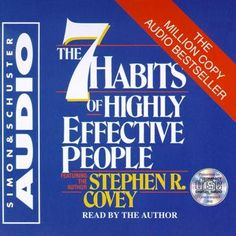 7 Habits of Highly Effective People, Stephen R. Covey THIS BOOK SHOULD BE MANDATORY IN SCHOOLS!!  #books #audiobooks #7habits #effective #passion #purpose #transformation #lawofattraction #loa #book #bookshelf #freebie #freebooks #freedownload #success #motivational #inspirational #business #marketing #mindset #selfhelp #selflove #love #goodreads #greatbooks #bookcovers #authors #author