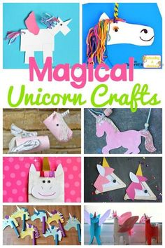 Mixed Media Paper Unicorn Craft Unicorn Crafts Crafty Kids And